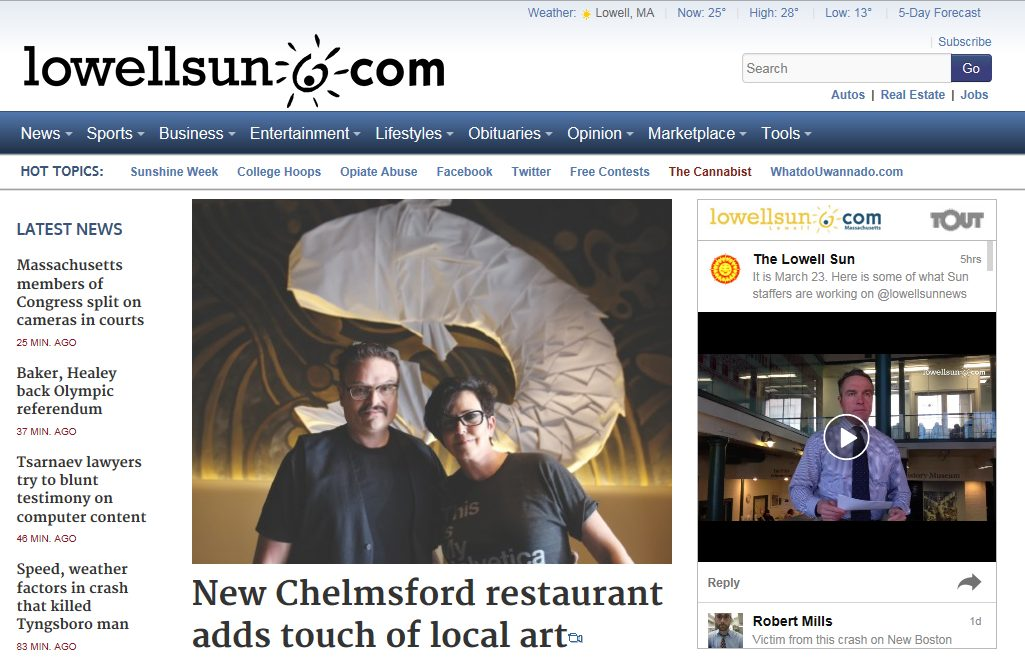 New Chelmsford Restaurant Adds Touch of Local Art